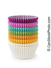 Colorful cupcake cases