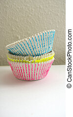 Colorful cupcake molds