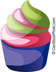 Colorful cupcakeillustration vector on white background