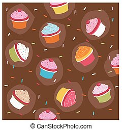 colorful cupcakes background