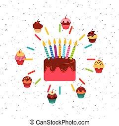 colorful cupcakes design