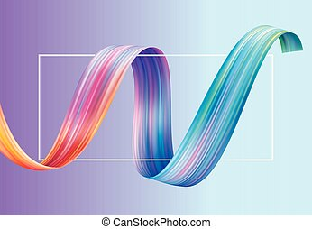 Colorful Curl Abstract Wallpaper Background.