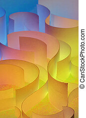 colorful curved sheets of paper