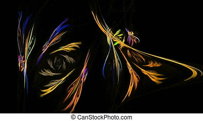 Colorful curves abstract loop motion background