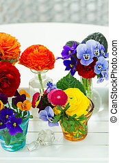 Colorful cut flowers