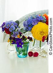 Colorful cut flowers