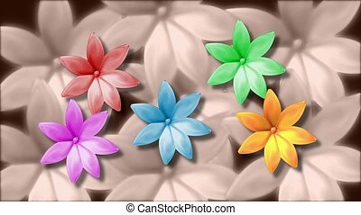 Colorful daisys