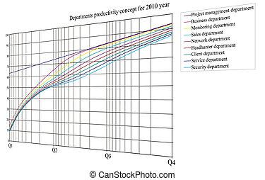 colorful data diagram, curves concept - colorful data curves...
