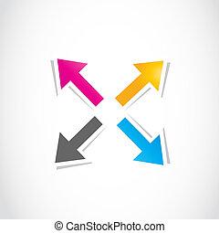 colorful deciding arrows
