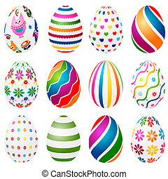 colorful decorated easter eggs