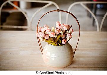 Colorful decoration artificial flower (vintage)