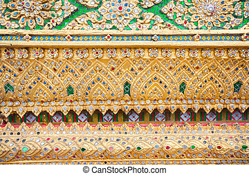 Colorful decoration in temple