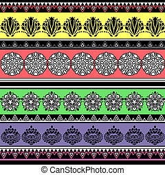 Colorful decorative aboriginal pattern