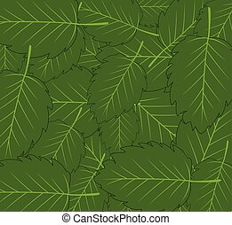 Colorful decorative background from green year foliage