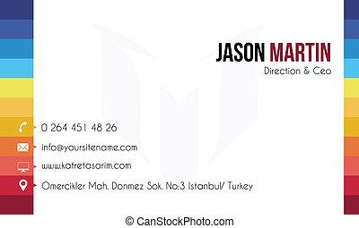 Colorful decorative business card