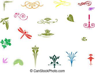 Colorful Decorative elements