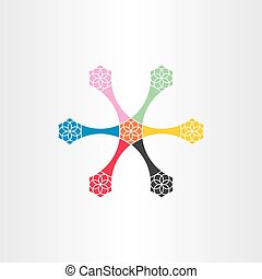 colorful decorative vector element star abstract design