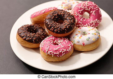 colorful delicious donut