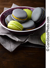 Colorful delicious macaroon. Sweet Dessert