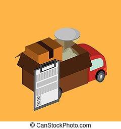 colorful delivery design, vector illustration