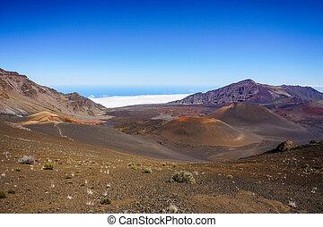 Colorful desert landscape in Haleakala National Park, Maui, Hawaii
