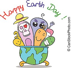 Colorful design earth day collection