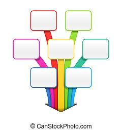 Colorful design element - Infographic, presentation or...