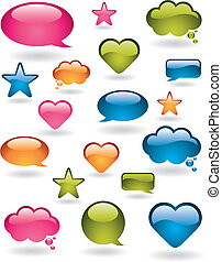 Colorful design elements