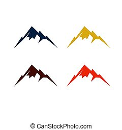 Colorful design mountains in various colors
