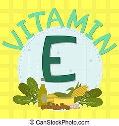 Colorful design of vitamin e