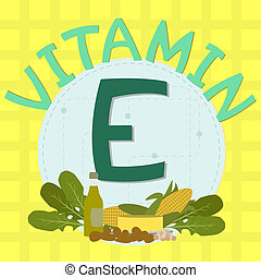 Colorful design of vitamin e