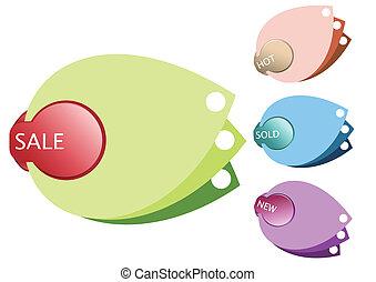 Colorful design sale leaf tags