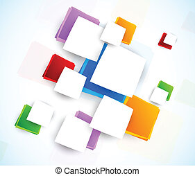 Colorful design with squares