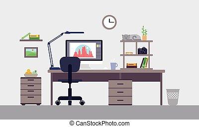Colorful Designer Workspace Concept