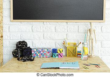 Colorful desk accessories