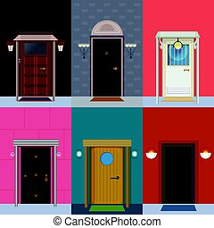 Colorful Detailed Entry Doors Collection