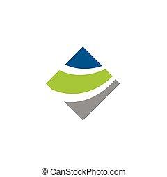 Colorful Diamond Swoosh Logo Template Illustration Design. Vector EPS 10.