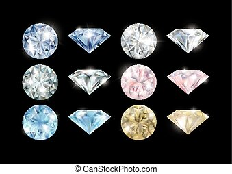 Colorful diamonds collection