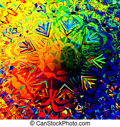 Colorful Digital Abstract Grunge