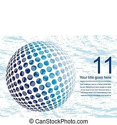 Colorful digital globe design. - Colorful digital globe...