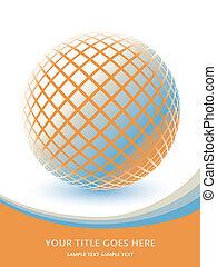 Colorful digital globe design.
