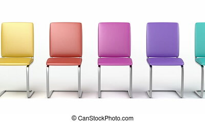 Colorful dining chairs - Leather dining chairs with ...