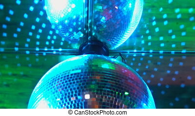 Colorful disco lights. Depth of field. The movie is looped....