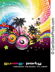 Colorful Discoteque Flyer - Tropical Music Event Colorful...