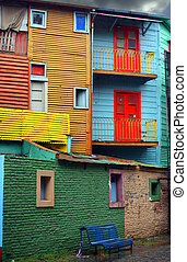 La Boca in Buenos Aires - Colorful district La Boca in...
