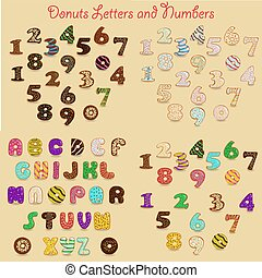 Colorful Donuts Alphabets
