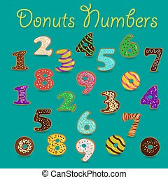 Colorful Donuts Numbers