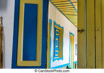 Colorful Door and Hallway
