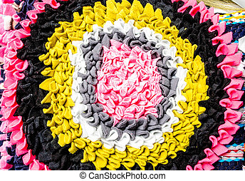 colorful doormat background