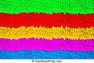 Colorful doormat texture
